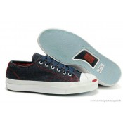 Converse Jack Purcell Basse Denim Bleu Marine Bordeaux