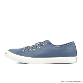 Converse Jack Purcell Basse Homme Cuir Chaussures Bleu