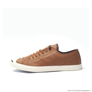 Converse Jack Purcell Basse Homme Cuir Chaussures Grenat Blanche