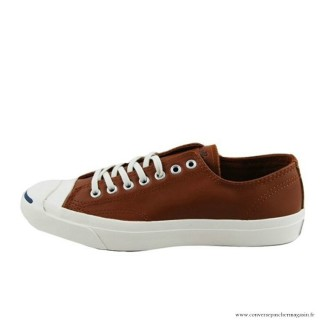 Converse Jack Purcell Basse Homme Cuir Chaussures Marron