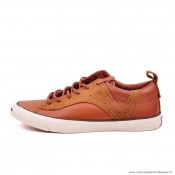 Converse Jack Purcell Basse Homme Cuir Chaussures Orange Blanche