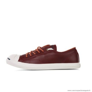Converse Jack Purcell Cuir Chaussures Homme Rouge Blanche