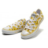 Converse France Jaune Smiley Visage Blanc