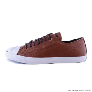 Converse Marron Blanche Jack Purcell Cuir Homme