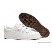 Converse One Star Rose Star Multi Buckles Cuir Blanche Rose