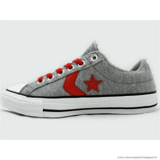 Converse Star Player Ev Ox Basse Grise Rouge
