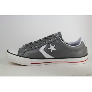 Converse Star Player Ev Ox Converse Cons Basse Cuir Charcoal Grise Blanche