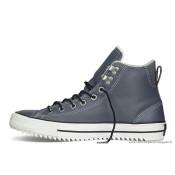 Cuir Chaussures Clair Bleu Homme Converse All Star Chuck Taylor Haute Avec Velours