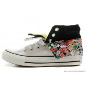 Converse Double Upper Tongue Fold Chuck Taylor All Star Haute Blanche Floral