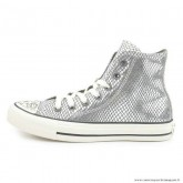 Femme Converse All Star Haute Antiskid Chaussures Silover