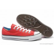 Femme Converse Double Tongue All Star Basse Fushia Bleu Royal