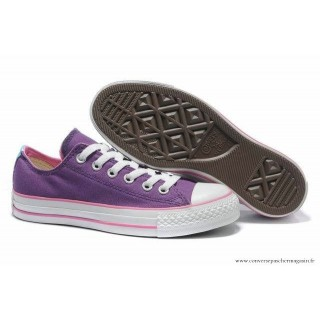 Femme Converse Double Tongue All Star Basse Lila Rose