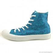 Femme Converse Marimekoo Chuck Taylor All Star Haute Toile Stripes Bleu Marine Bleu Royal