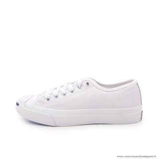 Femme Jack Purcell Basse Toile Chaussures Blanche