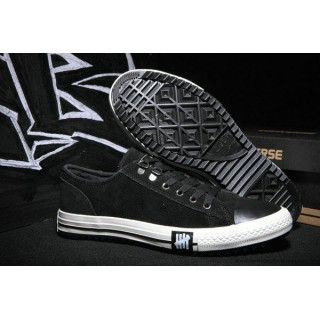 Homme Chaussures Converse All Star Basse Suede Noir