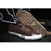 Homme Chaussures Converse All Star Basse Suede Saddle Marron