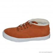 Homme Converse All Star Avec Velours Suede Chocolat Blanche