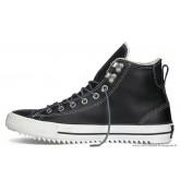 Homme Converse All Star Chuck Taylor Haute Avec Velours Cuir Chaussures Noir