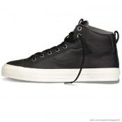 Homme Converse All Star Cuir Chaussures 147080 Noir Blanche