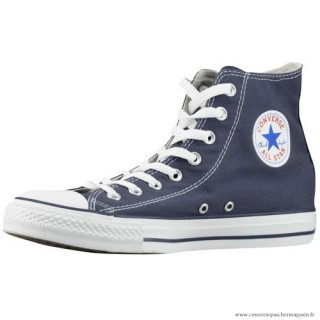 Homme Converse All Star Haute Casual Chaussures Toile Bleu Blanche