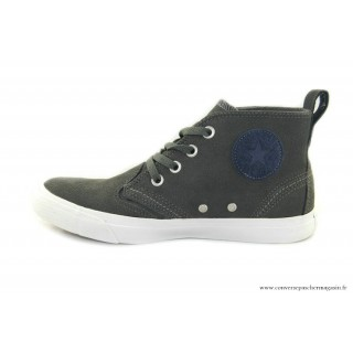 Homme Converse All Star Haute Suede Charcoal Grise Bleu