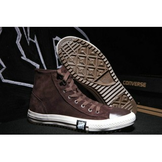 Homme Converse Chuck Taylor All Star Haute Homme Suede Chaussures Saddle Marron