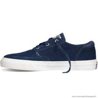 Homme Converse Cons Basse Sports Chaussures 147868 Sombre Bleu Blanche