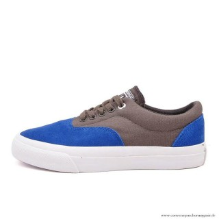 Homme Converse Cons Basse Suede Toile Chaussures Bleu Sienna