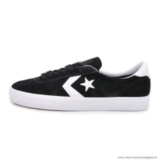 Homme Converse Cons Suede Casual Chaussures Noir Blanche