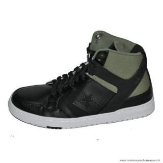 Homme Converse Cons Weapon Haute Toile Chaussures Noir Pommier