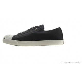 Homme Converse Jack Purcell Cuir Noir Blanche