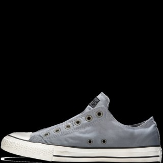 Homme Converse Slip-On All Star Basse Toile Grise