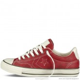 Homme Converse Star Player Ev Ox Converse John Varvatos Basse Cuir Rouge