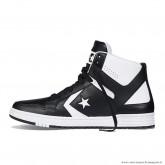 Homme Converse Weapon Cuir Chaussures Noir Blanche