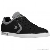Homme Converse Star Street Ox Suede Chaussures 144279F Noir Grise