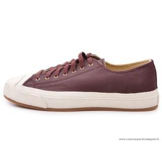 Converse Jack Purcell Basse Cuir Homme Chaussures Bleu Violet