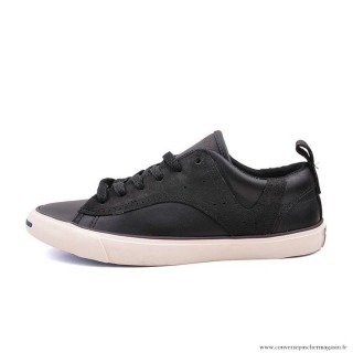 Converse Jack Purcell Basse Homme Cuir Chaussures Noir Blanche