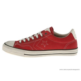 John Varvatos Homme Converse All Star Suede Rouge