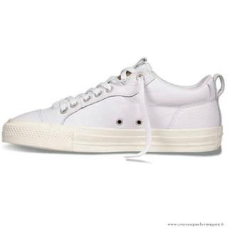 Nouveau 2016 Converse All Star Basse Cuir Chaussures Pour Homme 147081C Blanche