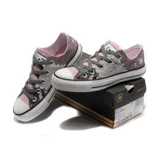 Chaussures Converse Pink Punk Impression Pirate Touches D'horloge Motif