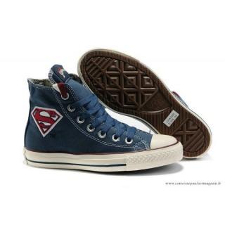 Superman Converse Chuck Taylor All Star Haute Toile Bleu