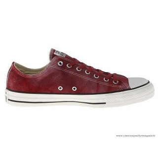 Tie Dye Converse All Star Basse Suede Rouge