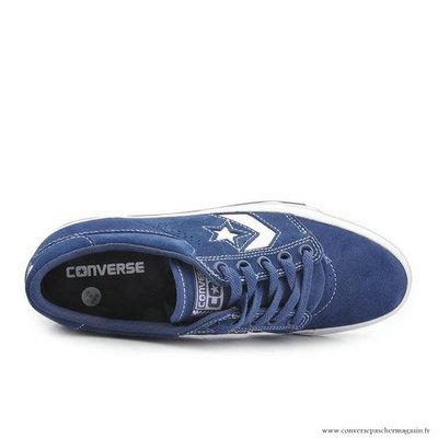 Chaussures Homme Skateboard Converse Cons Basse Suede Bleu