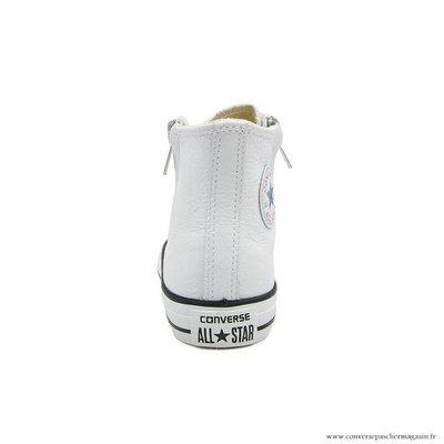 aa11fa6c41d1e ... Antiskid Chaussures Converse Chuck Taylor All Star Zip Haute Cuir  Blanche Pas Cher Paris. Etiquettes ...