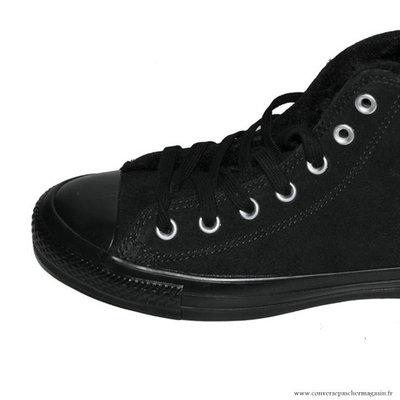 Converse All Star Haute Suede Chaussures Pour Femme Noir