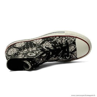 Converse All Star Imprimer Haute Toile Chaussures Noir Femme