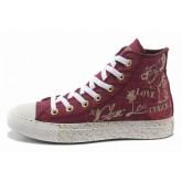 All Star Converse Aimer Rouge Graffitis