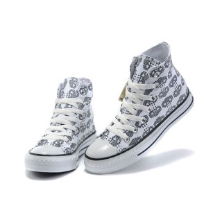 All Star Converse Amour Blanc Squelette
