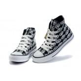 All Star Converse Amour Squelette Noir