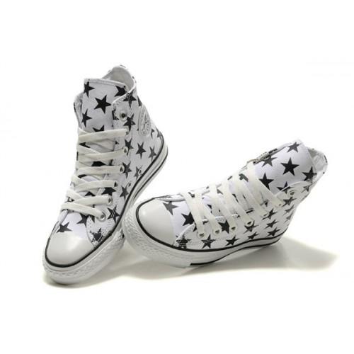 50% de réduction différemment belles chaussures All Star Converse Blanc Étoile Noir Converse All Star Slim